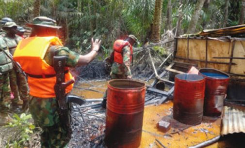 The Nigerian Navy's anti-crude oil theft operations destroyed illegal refineries between 2015and 2019.