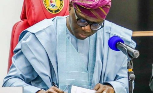 Lagos State Governor signs Value Added Tax Bill into law.